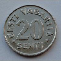 Эстония 20 сентов. 1999