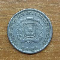 Доминиканская Республика 25 сентаво 1976 _РАСПРОДАЖА КОЛЛЕКЦИИ