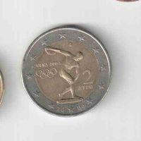 2 евро 2004 года Греции Дискобол