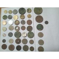 Монеты разные на  реставрацию 40шт