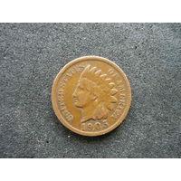 1 цент Индеец 1905 год редкий
