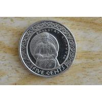 США Резервация Санта Изабель 5 центов 2012
