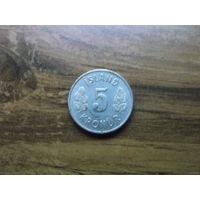 Исландия 5 крон 1969