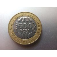500 Франков 2005 (Центральная Африка) биметалл