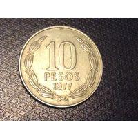 Чили 10 песо 1977г.  распродажа