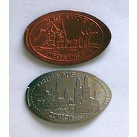 Жетоны сувенирные BURG SATZVEY MECHERNICH Германия и GRUSS AUS ZURICH Швейцария