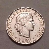 20 раппен, Швейцария 1962 г.