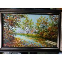 """Картина маслом """"Осень в парке"""""""