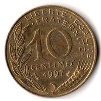 Франция 10 сантимов 1997