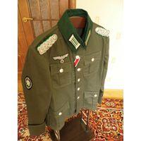 Форма М36 майора Вермахта горно-стрелковых и егерских частей (дриллих).