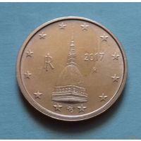 2 евроцента, Италия 2017 г., AU