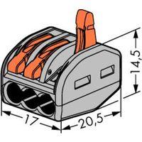 Клеммы WAGO 222-413 с рычажком (original!), 79 шт. (Цена за всё)