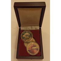Футляр для 3 монет с ложементом ячейки d=37.00 mm деревянный