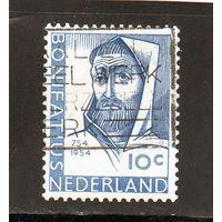 Нидерланды.Ми-643.Санкт-Бонифаций (672 / 3-754) миссионер в Фрисландии.1954.
