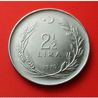 27-19 Турция, 2 1/2 лиры 1970 г. Единственное предложение монеты данного года на АУ
