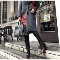 Ботфорты женские с красной подошвой. Vip качество