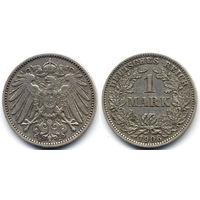 1 марка 1906 E, Германия, Мюльденхюттен. Более редкий мон.двор
