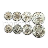 Северная Корея 4 монеты 1959-1978 годов. Одна звезда. Редкая.