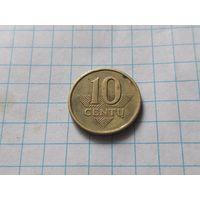 Литва 10 центов, 1998