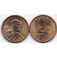 США, 1 доллар 2000 года, Р.