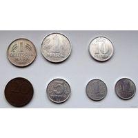 Немецкие марки и пфеннинги 1946-2001. Номинал: 1 марка, 20, 10, 5 и 1 пфеннинг. Цена за все 7 штук.