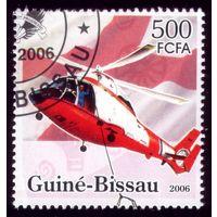 1 марка 2006 год Гвинея-Биссау Вертолёт 3362
