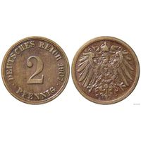 YS: Германия, Рейх, 2 пфеннига 1907A, KM# 16 (3)