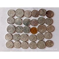 Монеты Индонезии с рубля.