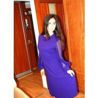 Шикарное платье известной фирмы с рукавами Плисе р 50-52
