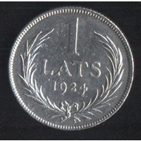 Латвия 1 лат 1924 г. (*). Неплохой!!!