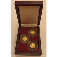 Футляр для 3 монет с капсулами 30.00 mm деревянный