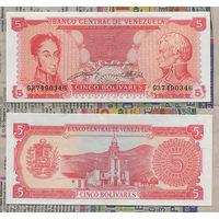 Распродажа коллекции. Венесуэла. 5 боливаров 1989 года (P-70а - 1989 Issue)