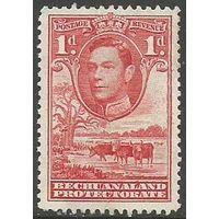 Бечуаналенд. Король Георг VI. Стадо скота. 1938г. Mi#102.