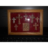 Пано с нательными старинными крестиками 18-19 в