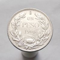 Чили 1 пессо 1905