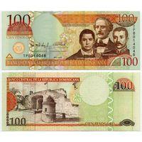 Доминиканская республика. 100 песо (образца 2009 года, P177b, UNC)