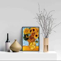 "Картина маслом ""Подсолнухи"" в стиле Ван Гога"