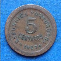 Португалия 5 центаво 1927
