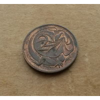 Австралия, 2 цента 1983 г., молодая королева
