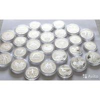 Комплект 28 монет набор Олимпиада-80 в капсулах Proof 5 и 10 руб (копии)