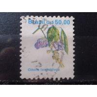 Бразилия 1990 Стандарт, цветы 50,00