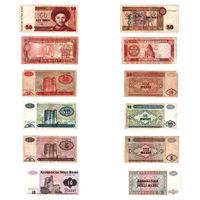 Набор банкнот - Казахстан, Туркменистан, Азербайджан, 6 штук одним лотом