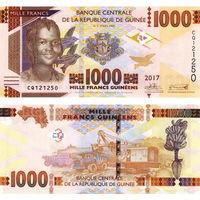 Гвинея  1000 франков  2017 год  UNC