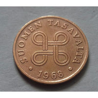 1 пенни, Финляндия 1968 г.