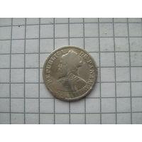 Панама  5 сентимос 1904г. серебро