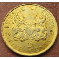 5396:  5 центов 1969 Кения