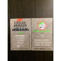 Иглы ORGAN (Япония) для швейных машин и оверлоков. В упаковке 10 игл.