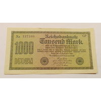 Старт с 1 рубля. 1000 марок 1922 год.