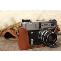 Фотоаппарат ФЭД 5В, рабочий, с олимпийской символикой.