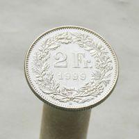 Швейцария 2 франка 1999